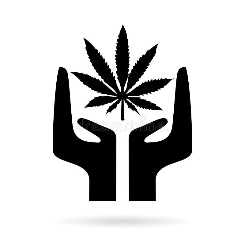 La marijuana légalisent l'icône de vecteur illustration de vecteur