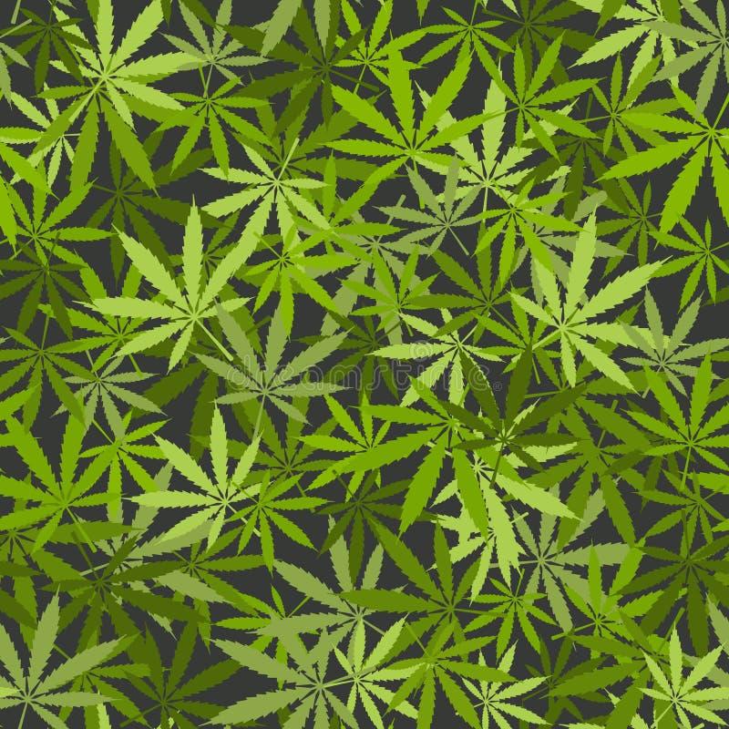La marijuana sale del fondo inconsútil libre illustration