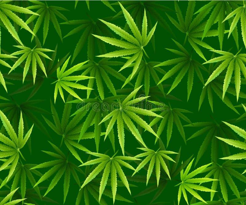 La marijuana sale del modelo inconsútil stock de ilustración
