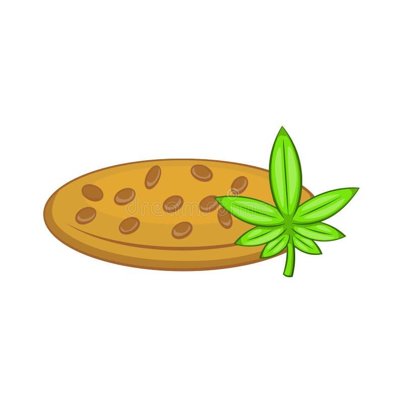 La marijuana siembra el icono, estilo de la historieta libre illustration