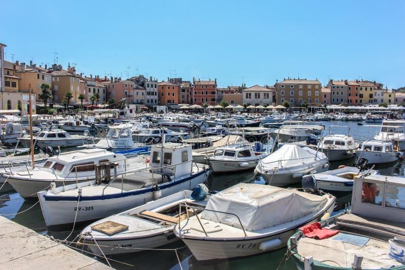 La marine et l'Adriatique voient en Croatie photographie stock