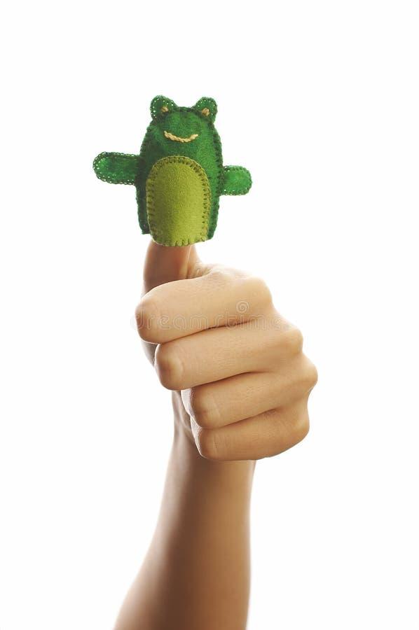 La marioneta del dedo fotos de archivo