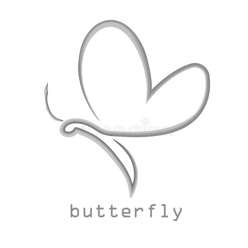 La mariposa, logotipo, belleza, forma de vida, cuidado, se relaja, yoga, extracto, alas, vector del diseño ilustración del vector