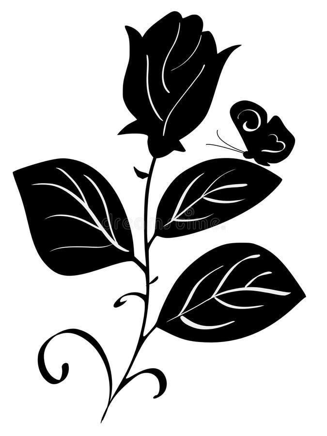 La mariposa y se levantó libre illustration