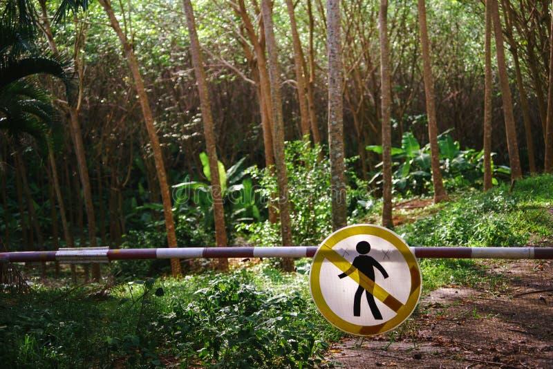 La marque de passage est interdite photo libre de droits