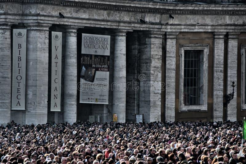 La massa di Vatican immagini stock libere da diritti