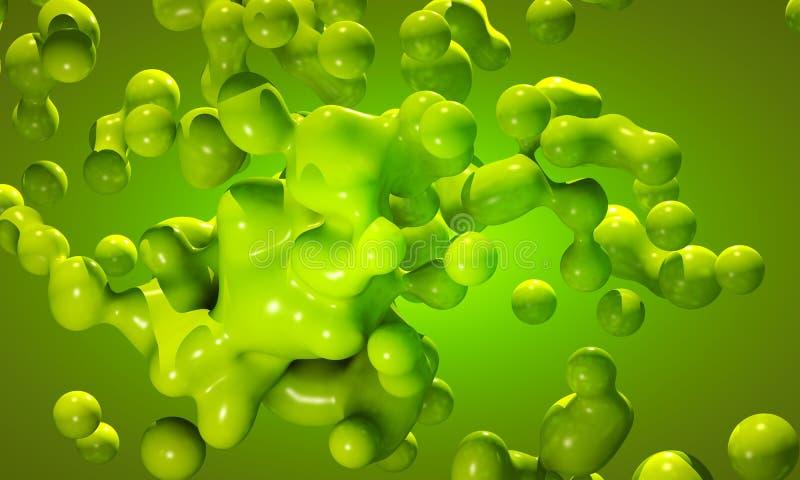 La masse verte globulaire amorphe illustration stock