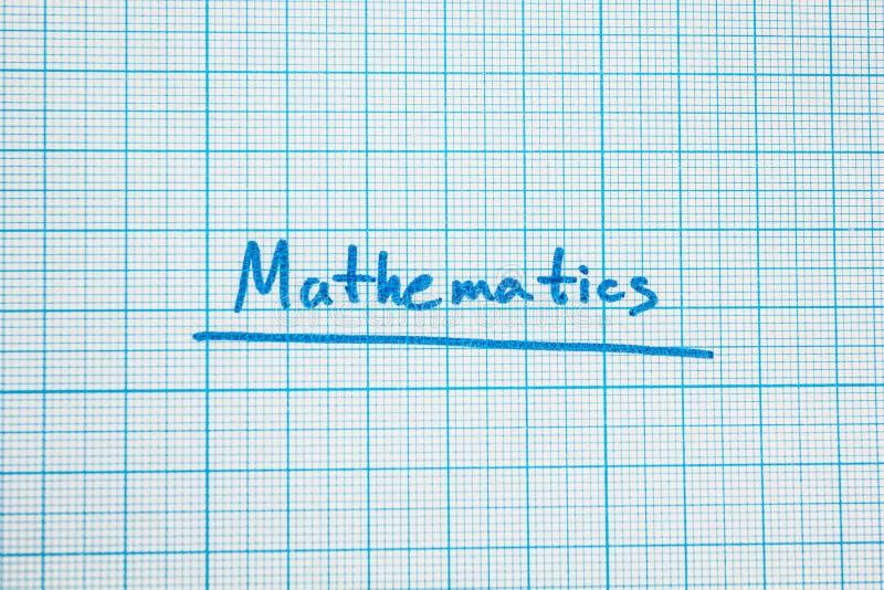 """La matematica della parola """"è primo piano illustrazione vettoriale"""