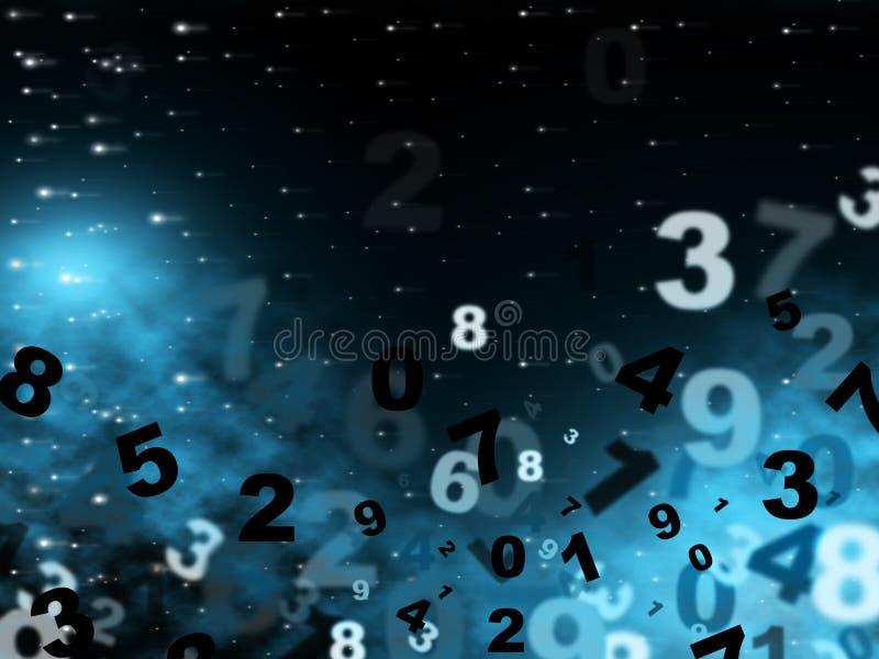 La matematica Digital indica alto tecnico ed il computer illustrazione di stock