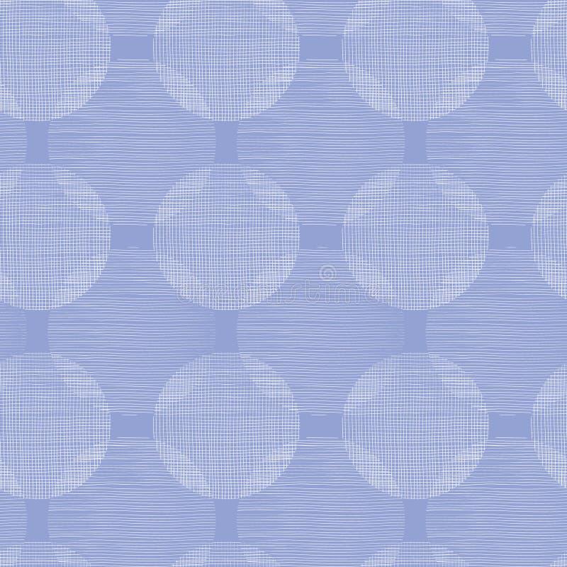 La materia textil púrpura circunda el fondo inconsútil del golpeteo ilustración del vector