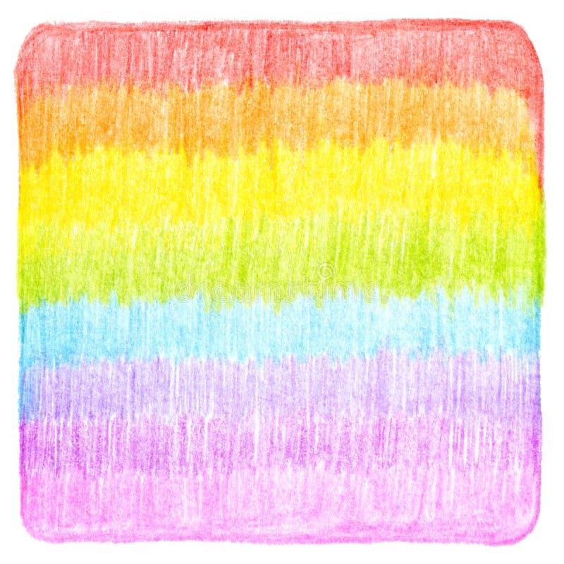 La matita astratta di colore scribacchia il fondo immagini stock
