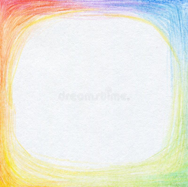 La matita astratta di colore scribacchia il fondo. immagini stock libere da diritti