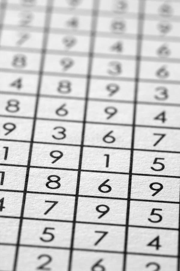 la matrice numérote le papier photographie stock libre de droits