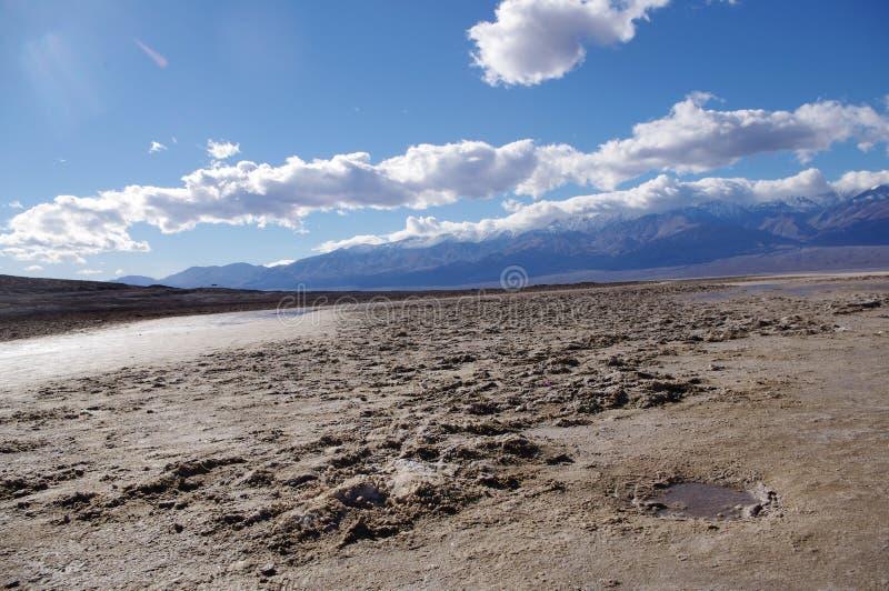 La mauvaise eau chez Death Valley image libre de droits