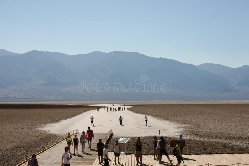 La mauvaise eau, Death Valley photographie stock