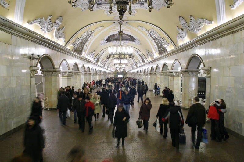 La mayoría del interior hermoso del subterráneo fotografía de archivo