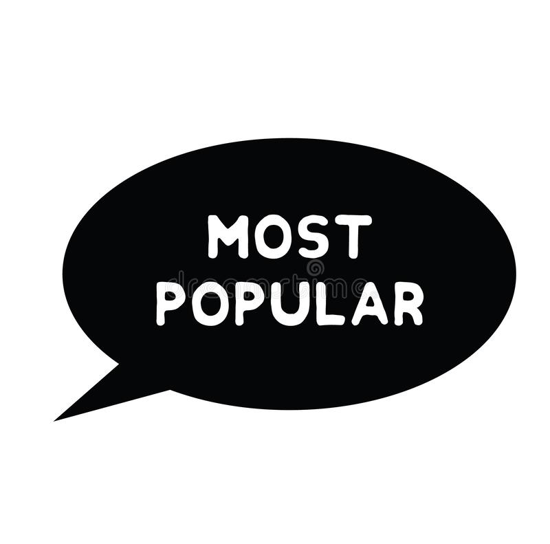 La mayoría del sello de goma popular libre illustration
