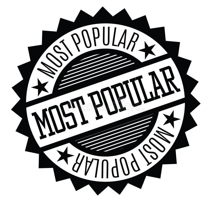 La mayoría del sello de goma popular stock de ilustración