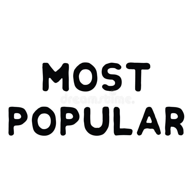 La mayoría del sello de goma popular ilustración del vector