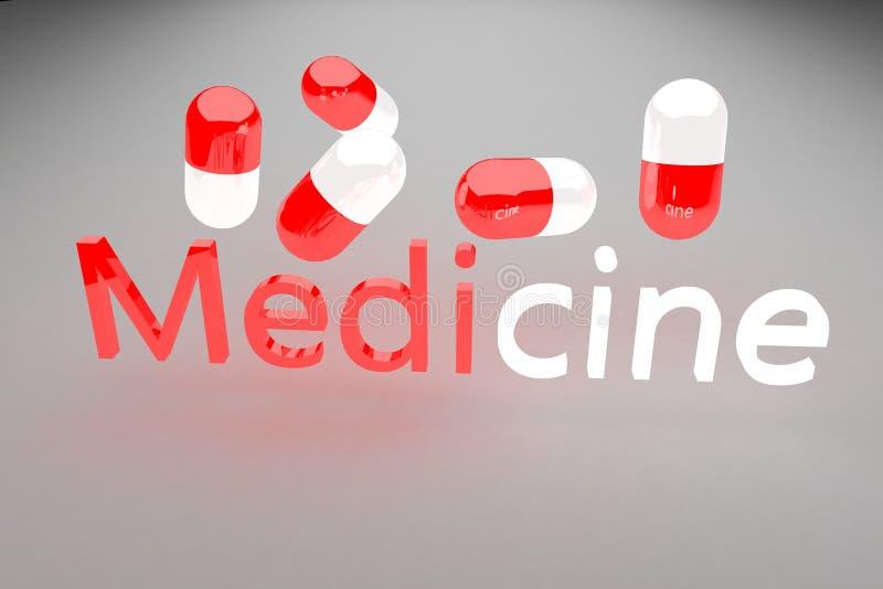 La medicina 3d rinde ilustración del vector