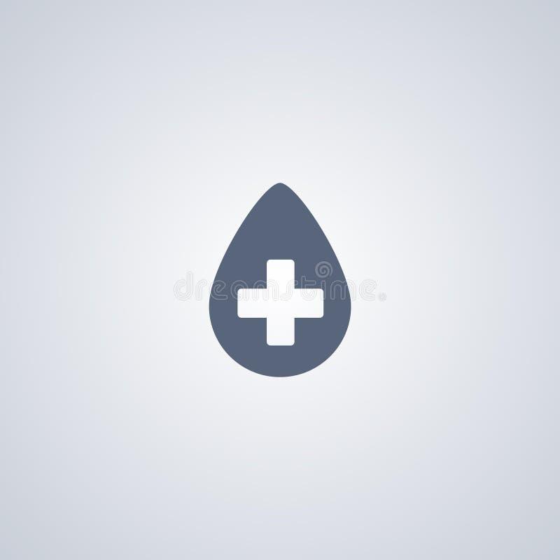 La medicina, dose, vector la migliore icona piana illustrazione di stock