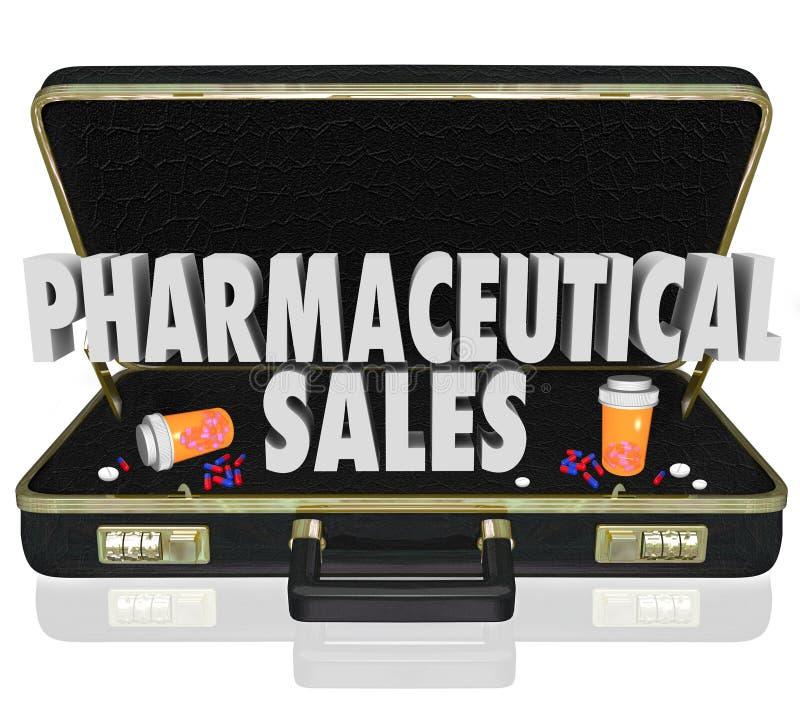 La medicina farmacéutica de la cartera de las ventas muestrea cápsulas de las píldoras ilustración del vector