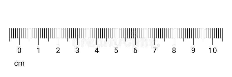La medida del cm de la regla numera la escala del vector stock de ilustración