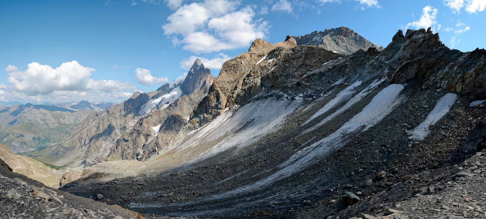 La Meije in the Ecrins National Park stock photography