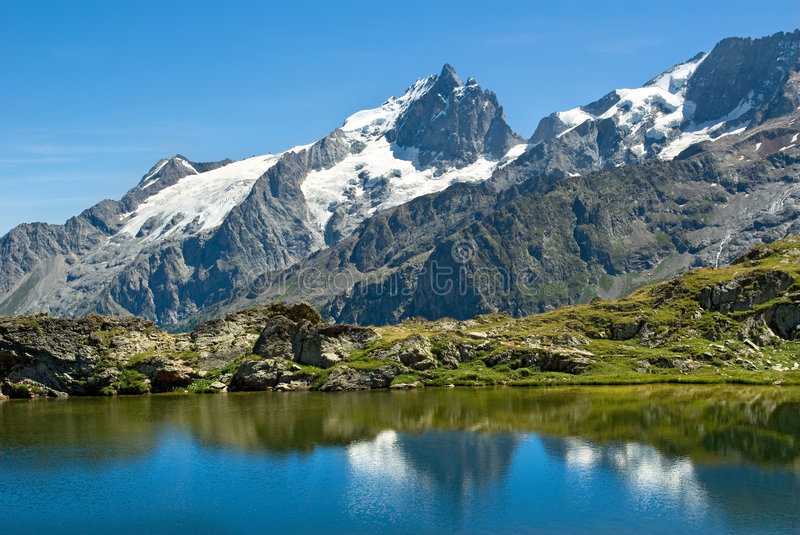 La Meije - French alpes royalty free stock photography