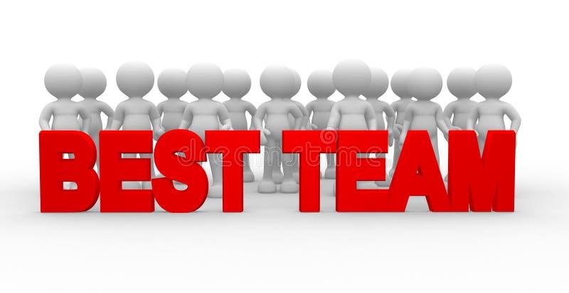 Download La meilleure équipe illustration stock. Illustration du amitié - 56482339