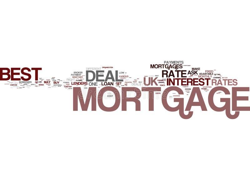 La meilleure affaire R-U d'hypothèque a mis votre meilleur pied expriment en avant le concept de nuage illustration libre de droits