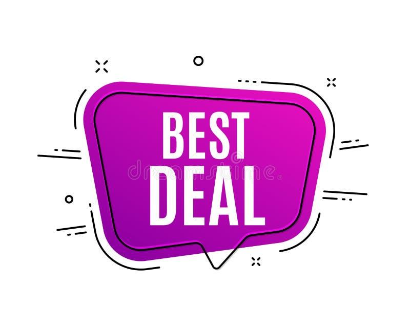 La meilleure affaire Signe de vente d'offre spéciale Vecteur illustration libre de droits