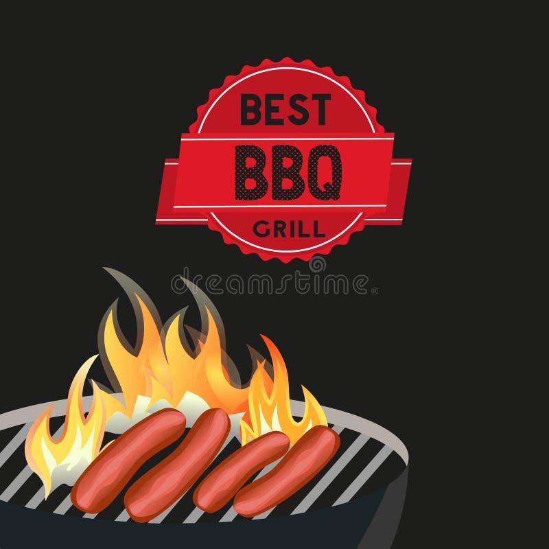La meilleure affiche de gril de BBQ illustration libre de droits