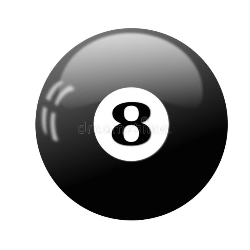 La meilleure boule de billard, icône, signe, la meilleure illustration 3D illustration stock