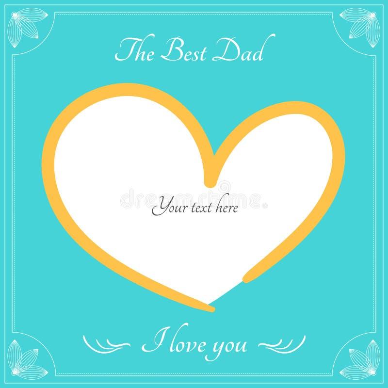 La meilleure carte de papa pour la salutation heureuse de jour de pères, backgro de vecteur illustration libre de droits