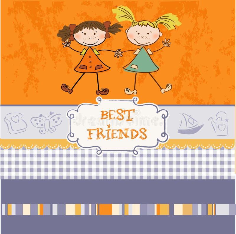 la meilleure carte de voeux de frients illustration stock