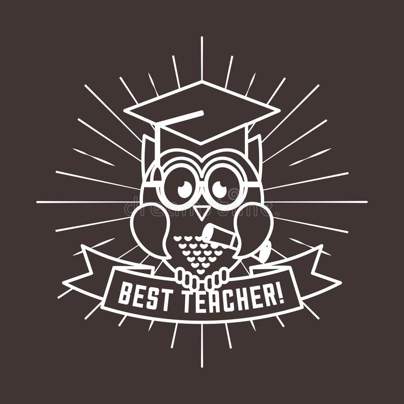 la meilleure conception de professeur illustration libre de droits