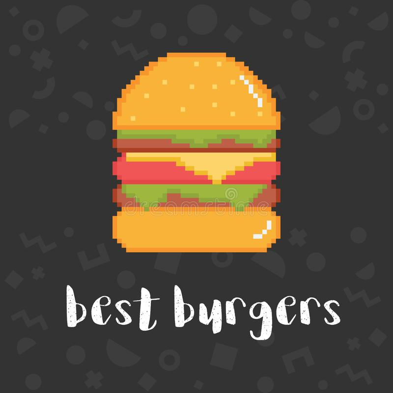 La meilleure illustration d'hamburgers de vecteur illustration de vecteur