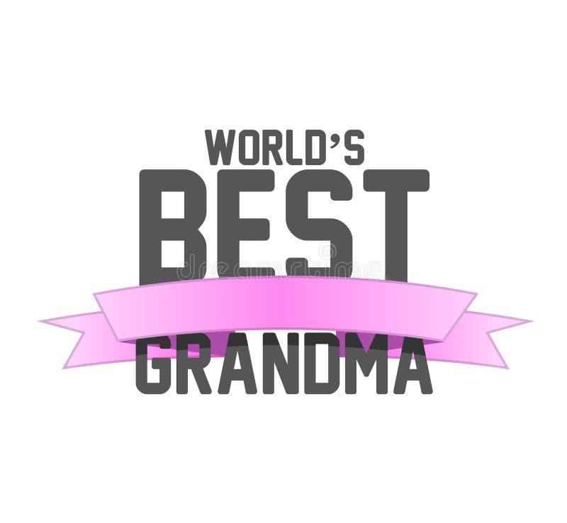 la meilleure illustration de signe de ruban de grand-maman des mondes illustration libre de droits