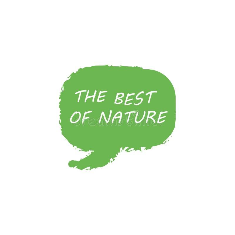 La meilleure nature Logo Template Design Vector, emblème, conception de l'avant-projet, symbole créatif, icône illustration libre de droits