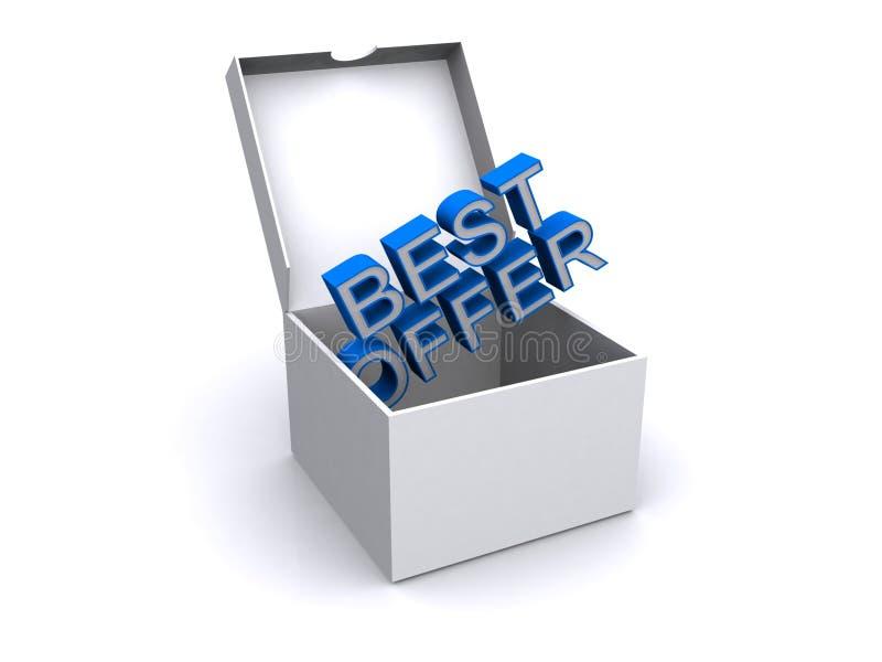 La meilleure offre dans une boîte illustration stock