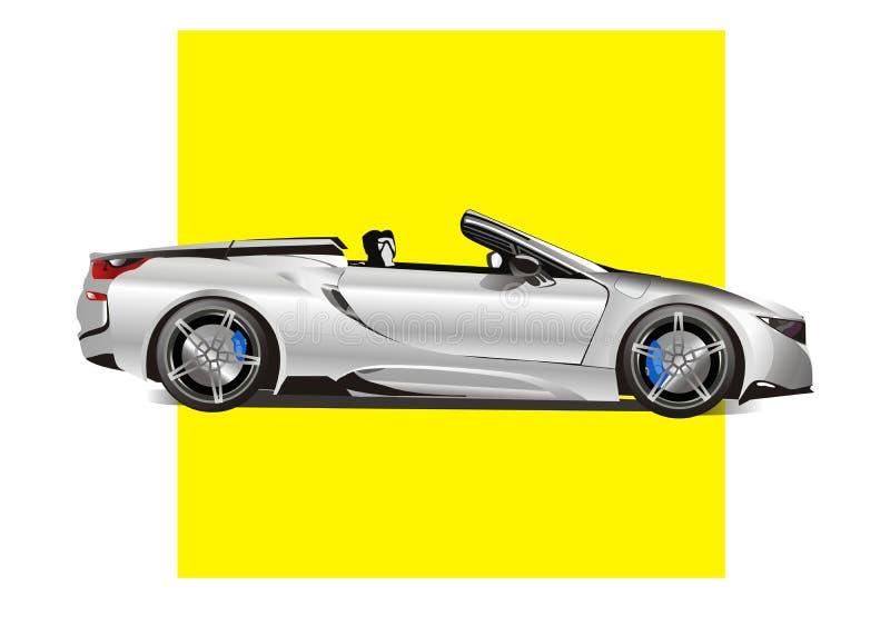 La meilleure voiture de sport d'hommes 2018 illustration stock