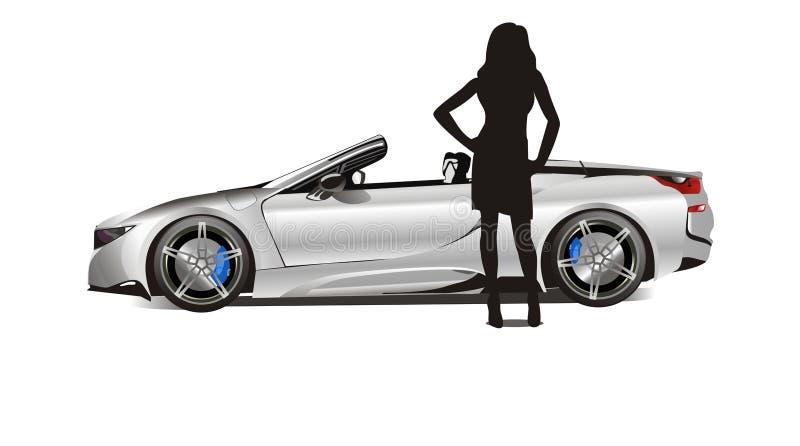 La meilleure voiture de sport d'hommes 2018 - en vente illustration de vecteur