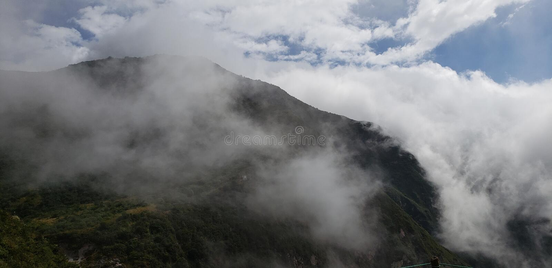 La meilleure vue de volcan de l'Equateur photographie stock