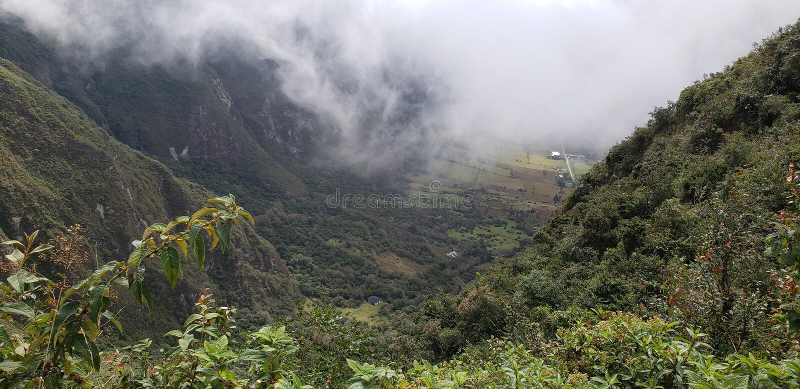La meilleure vue de volcan de l'Equateur image stock