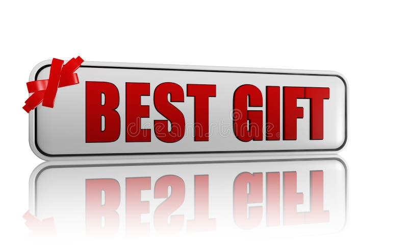 La mejor bandera del regalo con la cinta libre illustration