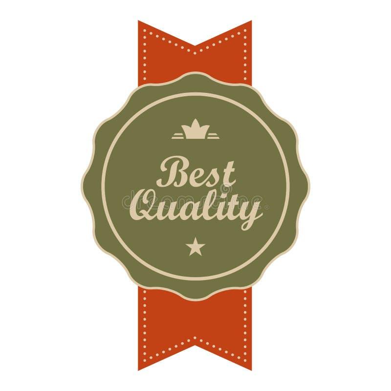 La mejor bandera del vintage de la calidad stock de ilustración