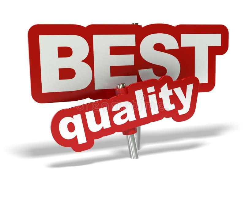 La mejor etiqueta de la calidad ilustración del vector