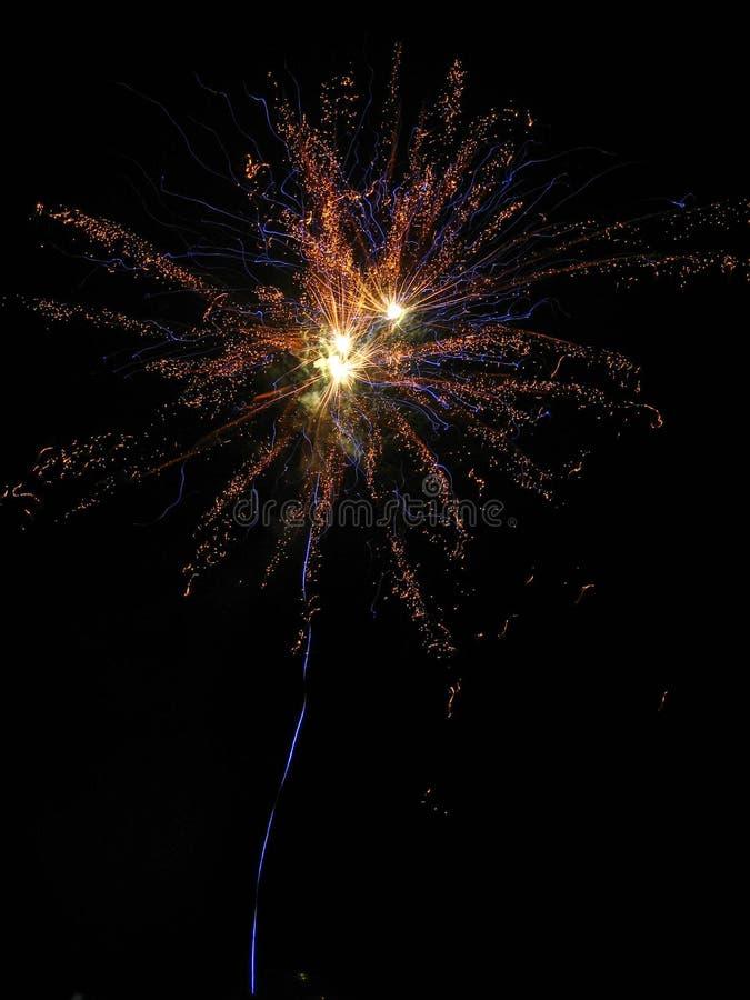 La mejor imagen del fuego artificial fotos de archivo