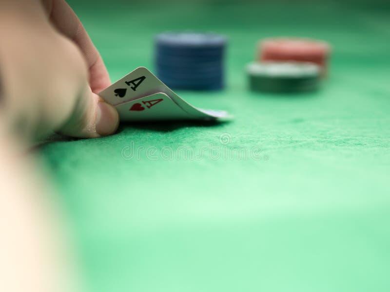 La mejor mano de póker foto de archivo